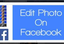 Edit photo on facebook