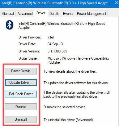 Fix Problem of Windows 10 Bluetooth Not Working