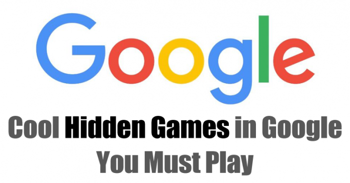 8 Cool Hidden Games in Google You Must Play