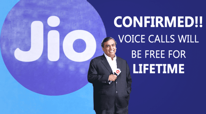 Reliance Jio Wins! Voice Calls Will Be Free for Lifetime