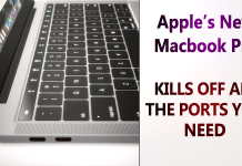 Apple Kills Off All The Ports You Need in its New Macbook Pro