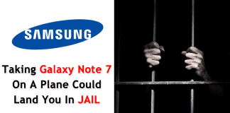 Now Taking Galaxy Note 7 On A Plane Could Land You In Jail