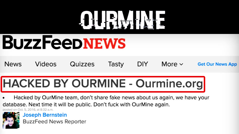 OurMine Hacked BuzzFeed Website For Publishing Fake News