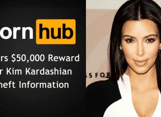 Pornhub Offers $50,000 Reward For Kim Kardashian Theft Information