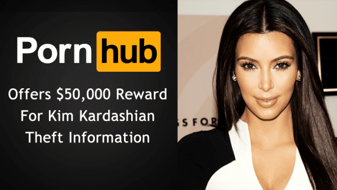Pornhub Offers $50,000 Reward For Kim Kardashian Theft Information