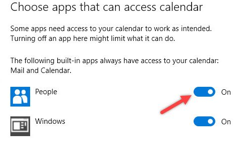 Properly Change App Permissions on Windows 10
