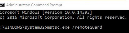 Secure Remote Desktop with Remote Credential Guard in Windows 10