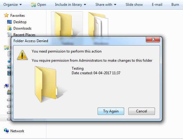 Deny Security Permission