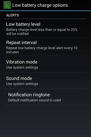 Set Low Battery Notification Ringtone on Android
