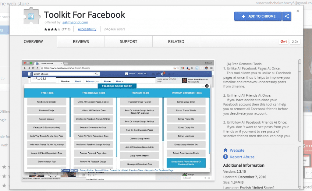 Toolkit For Facebook