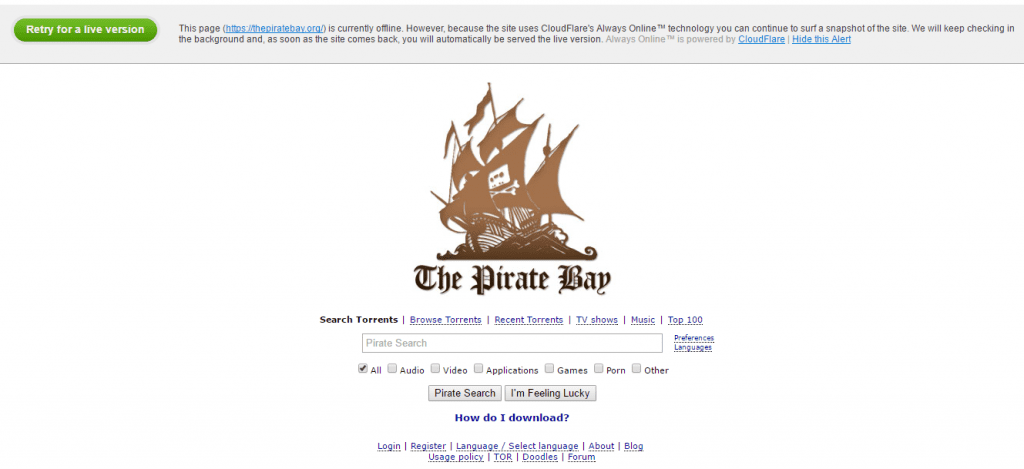 The Pirate Bay Is Down: Here's Top 10 Best Alternatives
