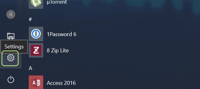 Using Windows 10 Settings