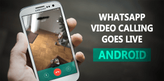 Finally! WhatsApp Video Calling Comes To Android Devices