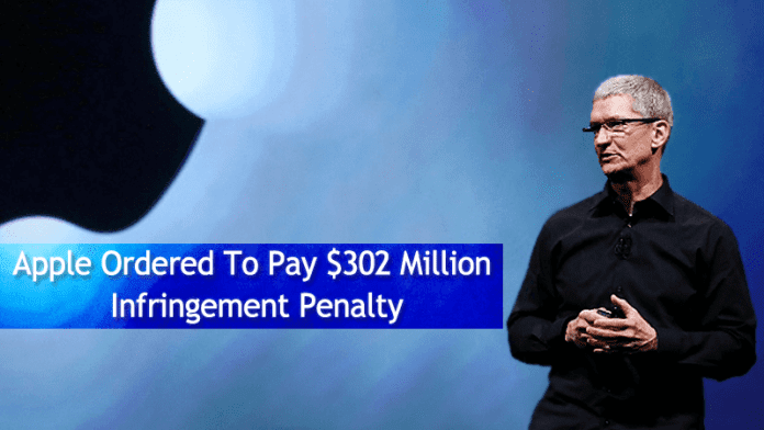 Apple Ordered To Pay $302 Million Infringement Penalty