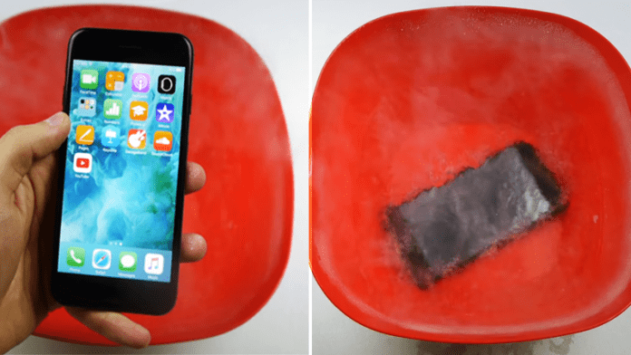 Here's What Happens When You Put iPhone 7 in Liquid Nitrogen