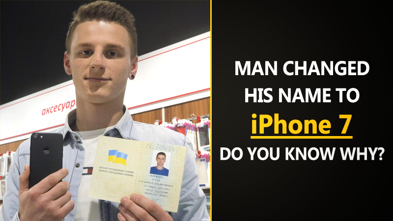 "Meet The Man Who Legally Changed His Name to ""iPhone 7"""