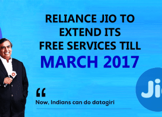 Wow!! Reliance Jio To Extend Its Free Services Till March 2017