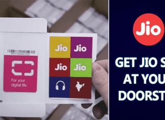 Reliance Jio Announces 4G SIM Home Delivery Services