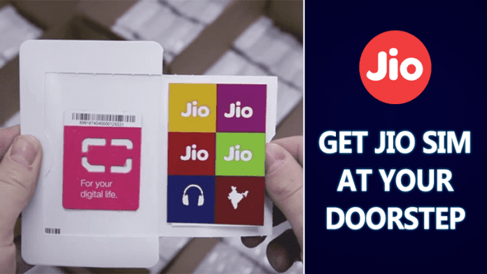 Reliance Jio Announces 4G SIM Home Delivery Services