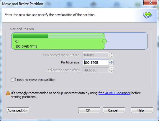 Using AOMEI Partition Assistant
