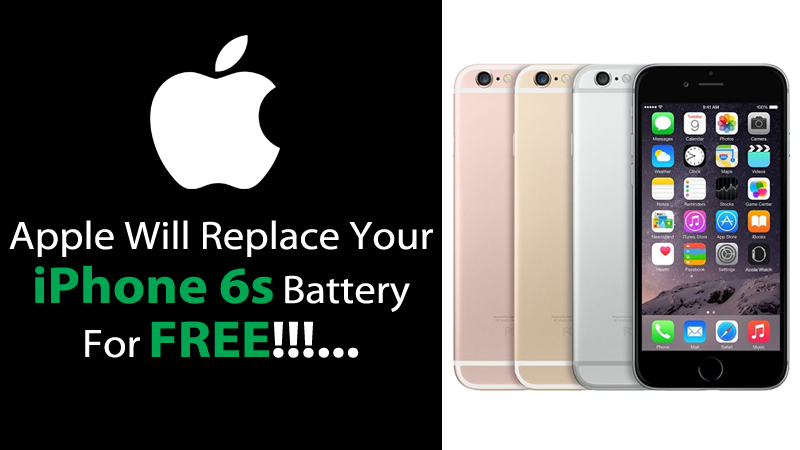 free iphone 6s apple to replace faulty batteries for free in iphone 6s 1978
