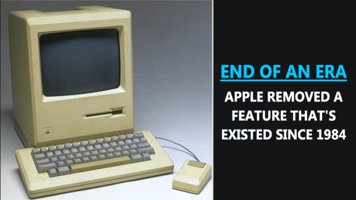 Apple Just Removed Another Feature That's Existed Since 1984