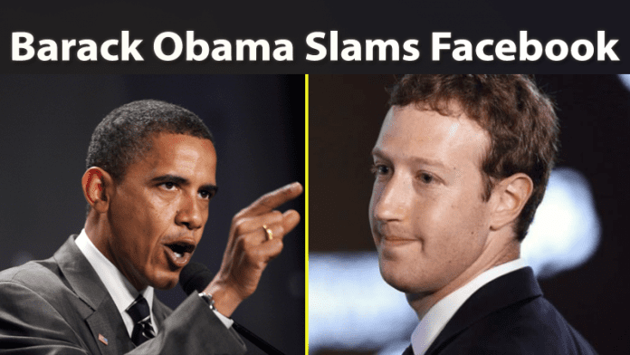 Barack Obama Slams Facebook Once Again Over Fake News