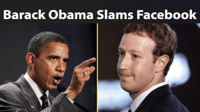 Barack Obama Slams Facebook Once Again Over Fake News