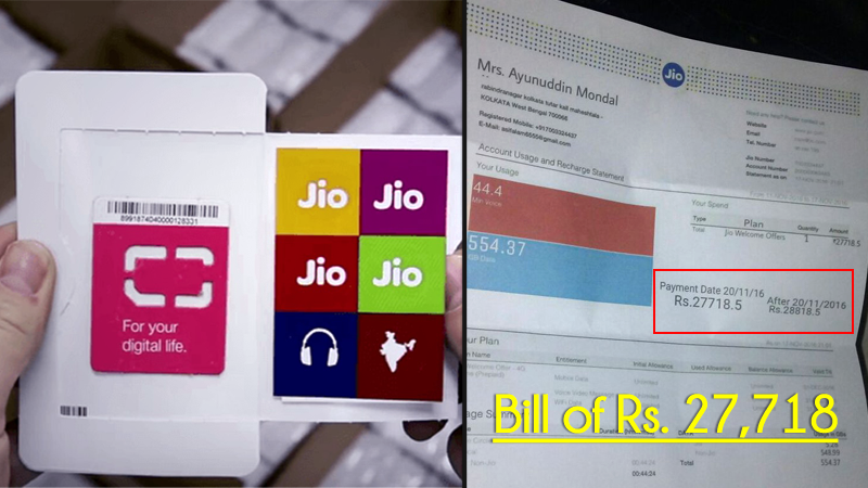 Reliance Jio User Gets a Bill Of Rs 27000, Know The Truth Behind It