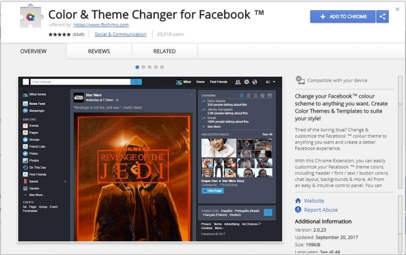 Change Facebook Color - How To Change Facebook's Default Theme To Any Color You Want