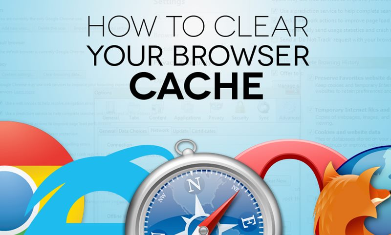 Clear Cache for all Browsers on Windows