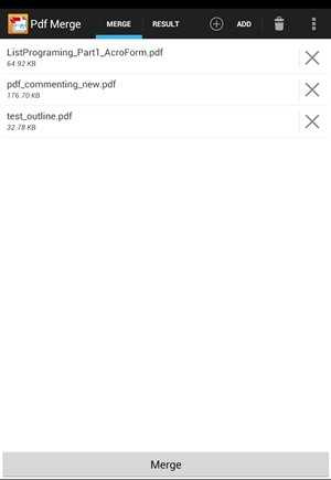 Combine PDF Files in Android