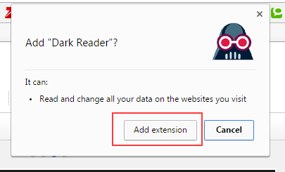 Using Dark Reader