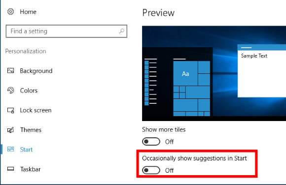 Disable All Windows 10's Built-In Advertising