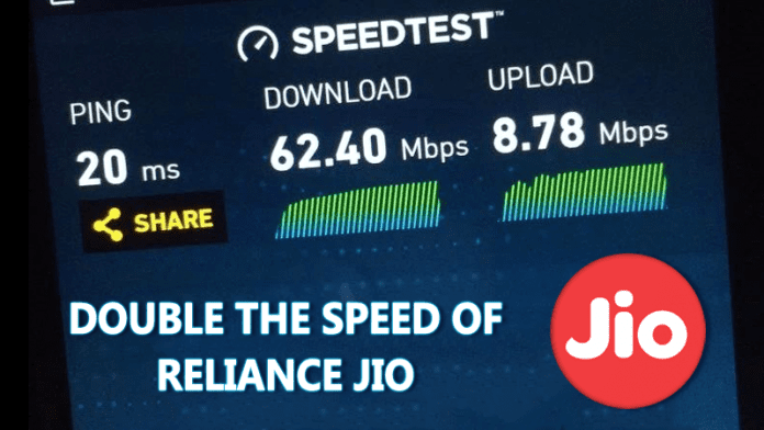 Here's How You Can Double the Speed Of Reliance Jio