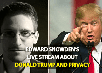 "Edward Snowden Will Discuss About ""Donald Trump and Privacy"" Today"