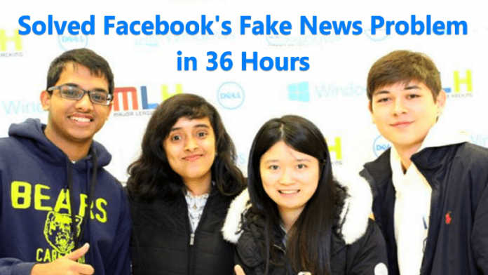 Facebook's Fake News Problem Solved in 36 Hours By These Students