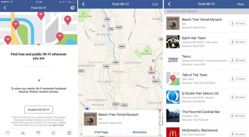 Facebook Wi-Fi Discovery