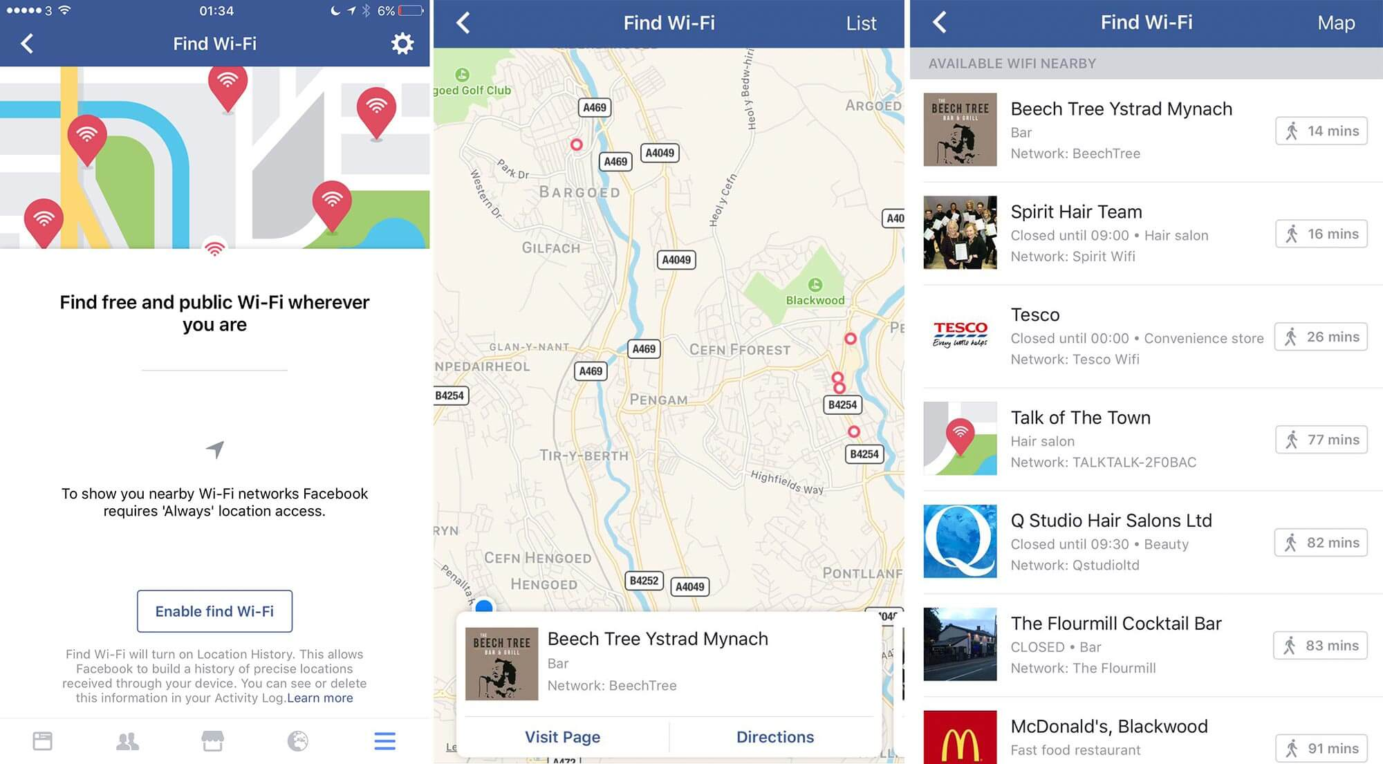 Facebook Wi-Fi Discovery Let's You Find Free Public Wi-Fi Hotspot Near  You