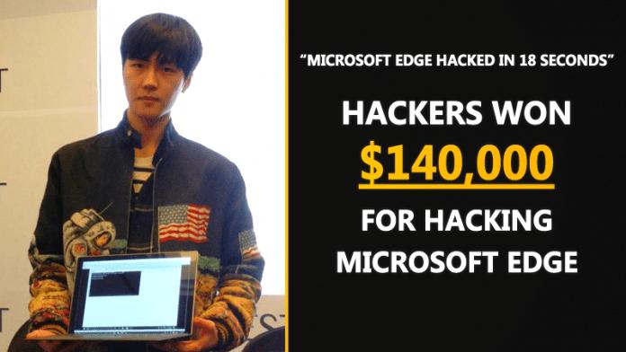 Hackers Won $140,000 For Hacking Microsoft Edge