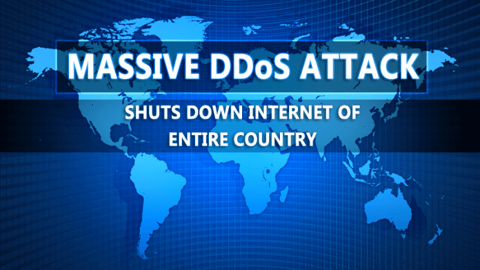Massive DDoS Attack Shuts Down Internet Of An Entire Country