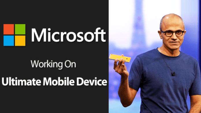 Microsoft CEO Satya Nadella Says Working On The