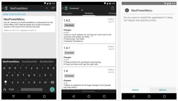 "NeoPower Menu 1 - How To Customize Android's ""Power Off"" Menu With More Options"