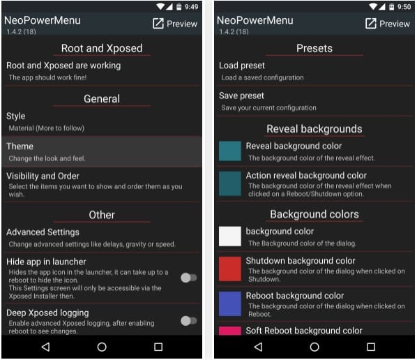 "NeoPower Menu 3 - How To Customize Android's ""Power Off"" Menu With More Options"