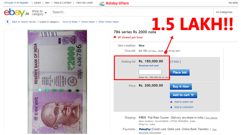 Some People Are Selling Rs 2,000 Notes On eBay For Rs 1.51 Lakhs