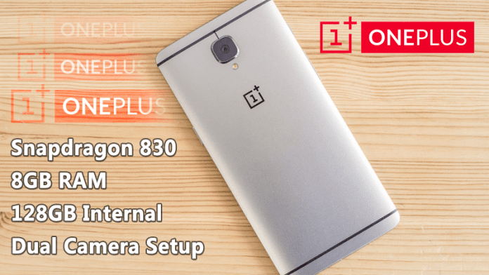 OnePlus 4 To Feature 8GB RAM, Snapdragon 830 Processor, 128GB Internal