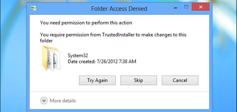 Restore TrustedInstaller Ownership to System Files
