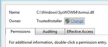 Restore TrustedInstaller Ownership to System Files
