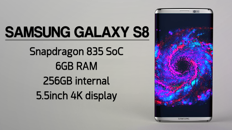 Samsung Galaxy S8 To Feature 256GB Storage and 6GB RAM