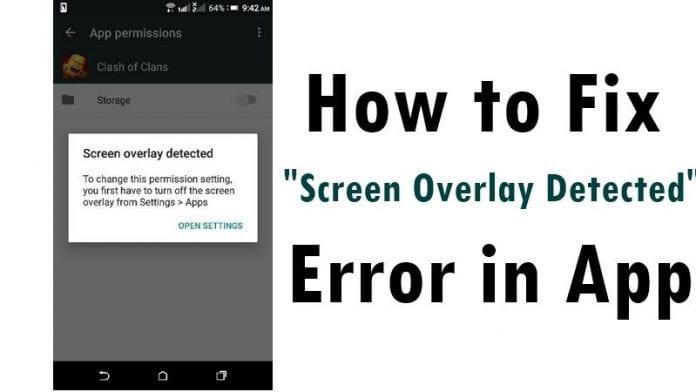 Screen Overlay Detected